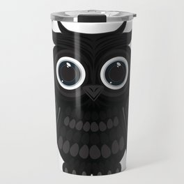 Black Owl Travel Mug