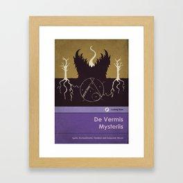De Vermis Mysteriis Framed Art Print