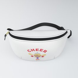 Cheerleader With Pom Poms and Cheer in Arched Text  Fanny Pack