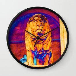 Lion - The Feldherrnhalle (Field Marshals' Hall) - Munich Wall Clock