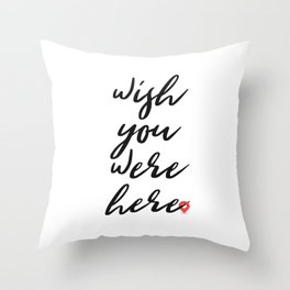 Wish you were here - Floyd Pink Throw Pillow