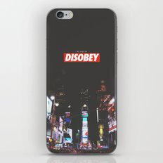 we need to DISOBEY iPhone & iPod Skin