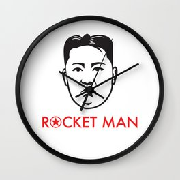 """Rocket Man"" Kim Jong-un Wall Clock"