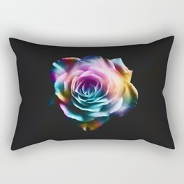 Tie Dye Colorful Rose Rectangular Pillow