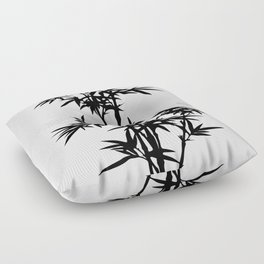 Bamboo Silhouette Black And White Floor Pillow