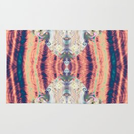 Copper Pastel Menagerie Fractal Abstract Rug