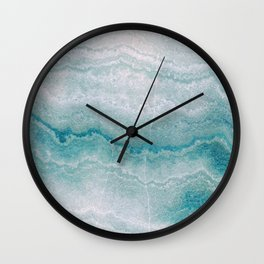 Sea green marble texture Wall Clock