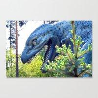 dinosaur Canvas Prints featuring Dinosaur  by Bakal Evgeny