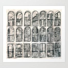 windows in Halifax Art Print