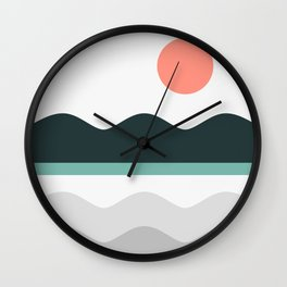 Abstract Landscape 05 Wall Clock