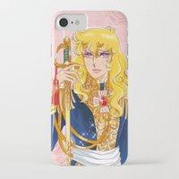 utena iPhone & iPod Cases featuring Versailles No Bara: Oscar by Neo Crystal Tokyo