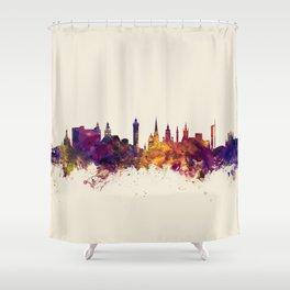 Glasgow Scotland Skyline Shower Curtain