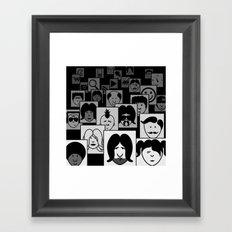 SF Guess Who? Framed Art Print