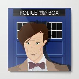Doctor Who - Matt Smith Metal Print
