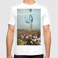 hand MEDIUM Mens Fitted Tee White