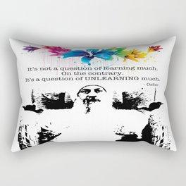 """""""Unlearn Everything"""" Rectangular Pillow"""