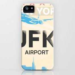 JFK stylish airport code iPhone Case