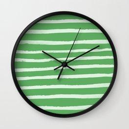 Simple Stripes - Fern Wall Clock