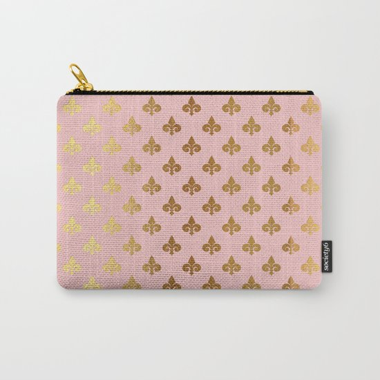 Royal gold ornaments on pink backround Carry-All Pouch