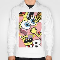 spongebob Hoodies featuring Spongebob by Startled Artist