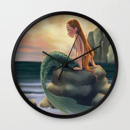 Beached Mermaid Wall Clock