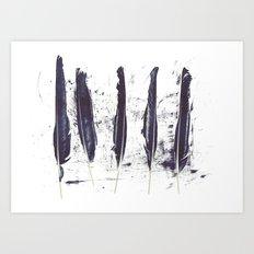 Five Ravens Art Print