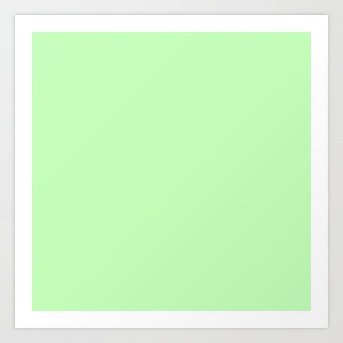 Solid Light Jade Green Color Art Print