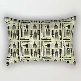 Comb Through green Pattern Rectangular Pillow