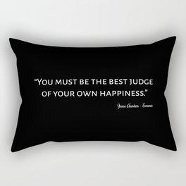 Emma By Jane Austen Quote I Rectangular Pillow