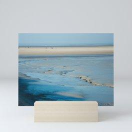 Blue sand of the sea Mini Art Print