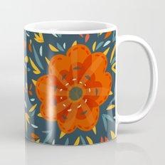 Decorative Whimsical Orange Flower Mug