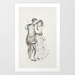 La danse à la campagne (The Dance in the Country) (1883) by Pierre-Auguste Renoir. Art Print