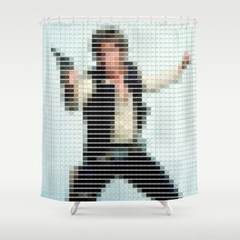 Han Solo - StarWars - Pantone Swatch Art Shower Curtain