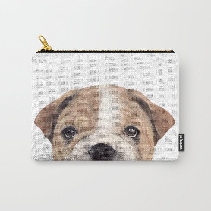 Bulldog Original painting Dog illustration original painting print Carry-All Pouch