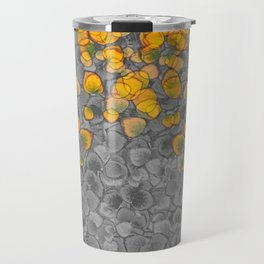 Real Aspen Leaves Collage Travel Mug