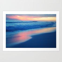 Sunset and ocean Art Print