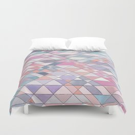 Triangle Pattern no.25 Light Pink Duvet Cover