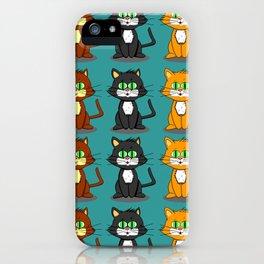 Cute Kawaii Cat illustration design iPhone Case