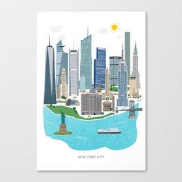 New York City Illustration Canvas Print