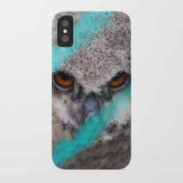 eyes of fire, young bird of prey portrait iPhone Case