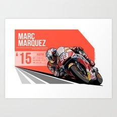 Marc Marquez - 2015 Austin Art Print