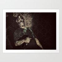 mf doom Art Prints featuring MF Doom by Ferdinand Bardamu