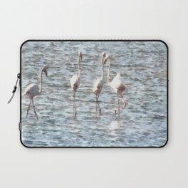 A Flamboyant Pat Of Flamingos Laptop Sleeve