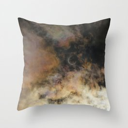 Solar Eclipse and Clouds Throw Pillow