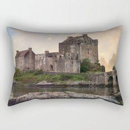 Eilean Donan Castle at sunrise Rectangular Pillow