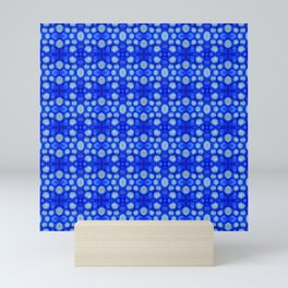 Nasturtium seed storage cells - blue Mini Art Print