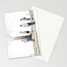 tree plus people Stationery Cards