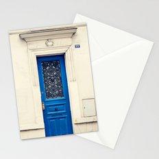Paris door, navy, petite Stationery Cards
