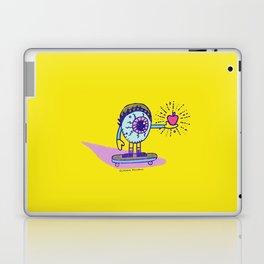 Apple of my Eye Idiom with Yellow Background Laptop & iPad Skin