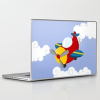 plane Laptop & iPad Skins featuring plane by Alapapaju